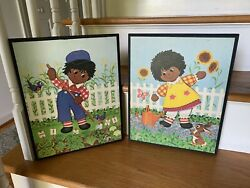 Raggedy Ann And Andy Artwork By Lyn Approx 11x14 African American