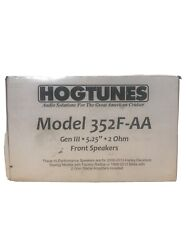Hogtunes Gen3 5.25 2 Ohm Front Speakers For Harley Touring 06-13
