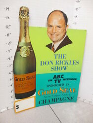 DON RICKLES Show ABC TV 1968 store display Gold Seal NY champagne Rat Pack
