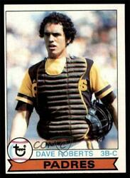1979 Topps Dave Roberts Black Vertical Line Between R And O In On Front 342.2