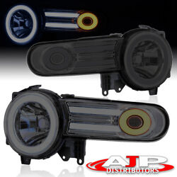 Smoked Lens Halo Projector Led Drl Headlights Lamps For 2007-2014 Fj Cruiser