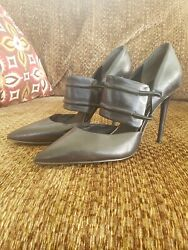 KENNETH COLE New York Water Leather Designer Pointed Toe Pumps Black Size 6 12