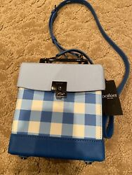 Nwt Botkier Lennox Crossbody Bag Blue Gingham Color - New