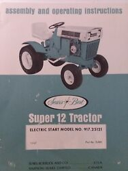 Sears Suburban Ss 917.25121 Super 12 Lawn Garden Tractor Owners Manual Hp 1967