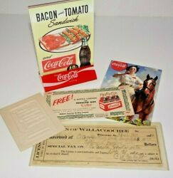 Coca Cola Bottling Works Georgia Tax 1920 Anniston Alabama Coupon Table Topper