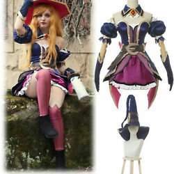 Lol League Of Legends Miss Fortune Cosplay Costume Halloween Dress/hat Lot