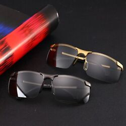 Polarized Photochromic Sunglasses Mens Pilot UV400 Driving Transition Sunglasses $9.59