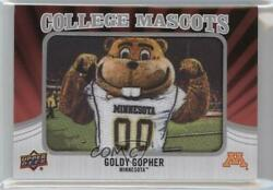 2012 Upper Deck College Mascots Manufactured Goldy Gopher Minnesota Patch