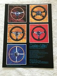 Moto-lita Handmade Steering Wheels Poster Advert Ready To Frame A4 Size File S