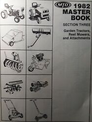 Mtd 1982 Garden Tractor, Implements And Walk-behind Reel Mower Master Parts Manual
