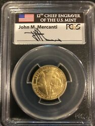 2007-w Jamestown Gold Coin Pcgs Ms 70 Very Rare Mercanti Label 5