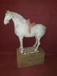Antique Chinese Tang Pottery Ceramic Horse As - Is