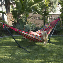 10ft Double Hammock Space Saving Portable Stand With Carrying Bag Combo Kit