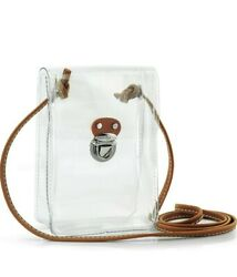 Clear Mini Crossbody Bag for Stadium Approved Transparent PVC Single Shoulder $20.00