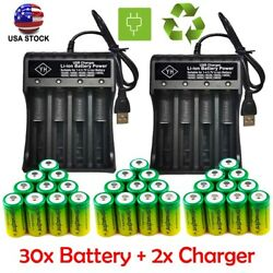 10x Rechargeable Batteries 3.7v 1800mah Cr123a For Netgear Arlo Security Camera.