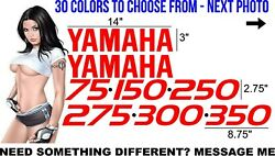 Yamaha Outboard Decals Sticker Kit 30 Colors To Choose From - Any Engine Size