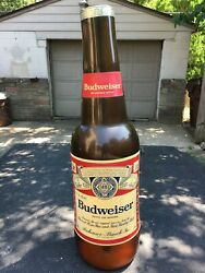 One And Only Vintage Budweiser 6ft Tall Inflatable Bottle Made In Taiwan