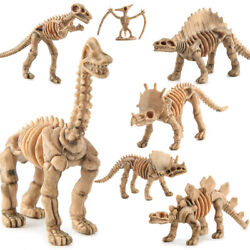 12 pcs Lot Unique Dinosaur Fossils Skeleton Figures Jurassic Park Dino Toy Model $10.99