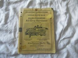 Allis-chalmers All Crop Harvester Operatorand039s Instructions Manual Parts Catalog