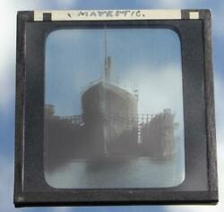 White Star Line Rms Olympic Original Glass Slide In Floating Dock Southampton
