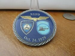 Nypd New York Police Department Aviation Challenge Coin 189g