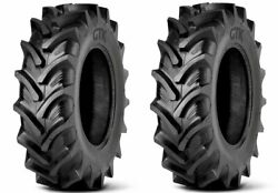 2 New Tractor Tires 16.9 34 Radial Gtk Rs200 16.9r34 R1w 420/85r34 Tubeless Dob