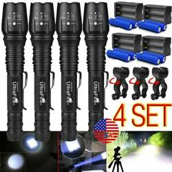 350000lumens Tactical Police 5modes Led Flashlight Ultrafire Zoom Torch Jd