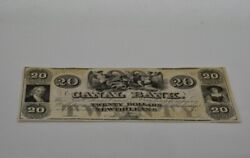 1800's Louisiana Canal Bank 20 Dollar And 18xx Canal And Banking Co 5 Dollar