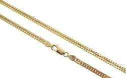 14k Yellow Gold Double Curb Link Chain 22 Inches 3.8mm 20.76gm