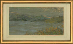 Osmond Hick Bissell Arwa Ps - Mid 20th Century Pastel, Mountainous Landscape