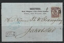 Bandd 1868 Finland Scott 6b Type Iii On Cover To Jakobstad W/commercial Content