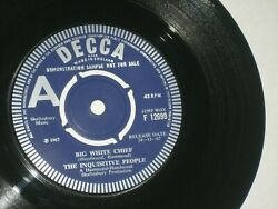 45rpm Inquisitive People Big White Chief1967/uk Demodecca F 12699 Nicesee Pic