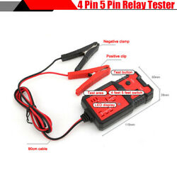 12v Suv Car 4pin 5pin Relay Tester With Led Indicator Automotive Diagnostic Tool
