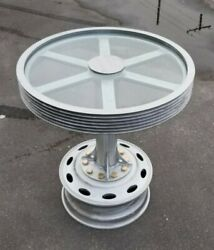 Industrial Pulley Aluminum Custom High Top Outdoor Table