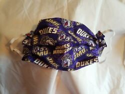Handcrafted James Madison University Dukes adult face mask elastic $7.25