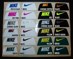 Nike Visor Tabs Helmet Decals Stickers Football Under Armour 3m Full Large New