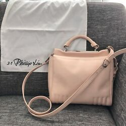 3.1 Phillip Lim Ryder Satchel Crossbody Leather Bag Pale Pink Salmon AUTHENTIC $449.00