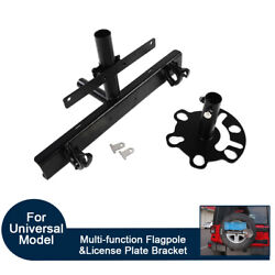 Multi-function Spare Tire Flagpole And License Plate Bracket For Jeep Wrangler Jk