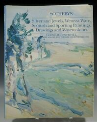 Sotheby's Catalog Silver And Jewels Wemyss Ware Scottish Paintings 09/1/1992