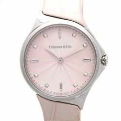 Auth And Co. Metro 2-hand 28mm 60874743 Women's Watch Diamond Pink /37140