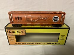✅mth Railking Bessemer And Lake Erie 4-bay Cylindrical Map Hopper 30-75536 Bandle