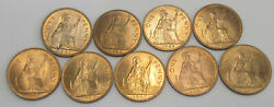1961 1962 1964 1965 And 1967 Great Britain Pennies Lot Of 9