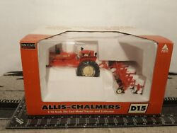 Allis Chalmers D15 W/4 Row Cultivator 1/16 Diecast Tractor Replica By Speccast