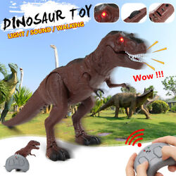 Light Up Remote Walking Dinosaur Kids LED Toy Figure W Sound Real Movement Gift $19.78