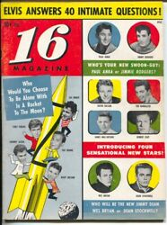 16 Magazine 5 11/1958-tony Perkins-jimmy Rogers-everly Brothers-elvis-vg/fn