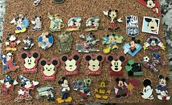 Value Disney World Disneyland Store Trading Lot Of 34 Mickey Mouse Pins Hkdl