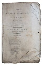 1798 The Castle Spectre Plays Gothic Melodrama Theatre Monk Lewis