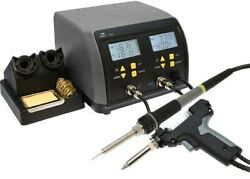 Aven 17401 2-in-1 Soldering/de-soldering Station With Dual Lcd Displays