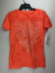 American Fighter By Affliction Short Sleeve T-shirt Womens Fowler Orange