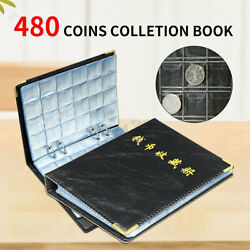 480 Coin Album Collection Book Holder Collectors Money Penny Cases Pockets 8x6
